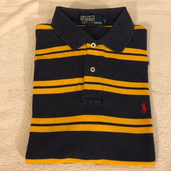 gold ralph lauren polo shirt